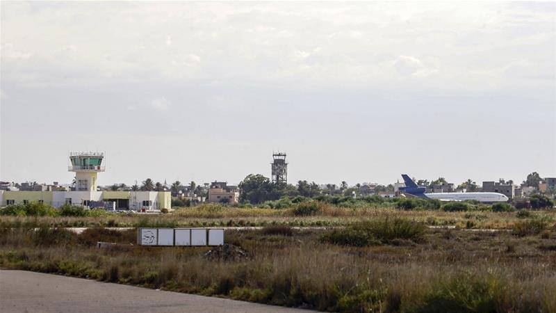 Flights resumed on Wednesday after the rocket attack forced their suspension [Mahmud Turkia/AFP]