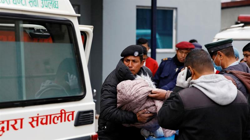The eight were part of a group of 15 tourists who had travelled to Nepal from the southern Indian state of Kerala [Navesh Chitrakar/Reuters]