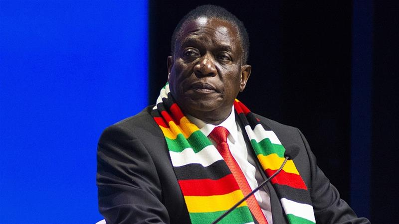 Zimbabwe's government, led by President Emmerson Mnangagwa, has approached the UAE in hopes of selling a stake in its national oil company, three company and government officials familiar with the plan have told Bloomberg News [File: Waldo Swiegers/Bloomberg]