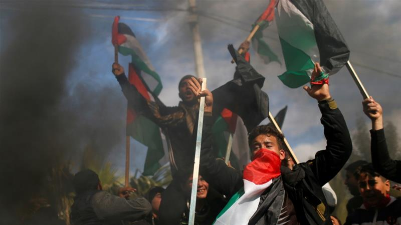 Protests in Gaza ahead of Trump's Middle East plan release