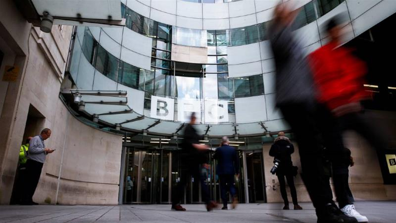 The BBC's Broadcasting House headquarters will see major changes after the corporation announced it will cut around 450 jobs from its news division [Henry Nicholls/Reuters]