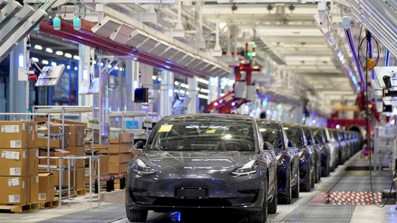 Tesla's $2bn Shanghai factory is the electric carmaker's first outside the US and was built with support from Chinese authorities [January 7: Aly Song/Reuters]