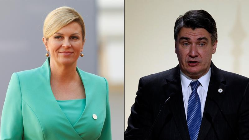 Kolinda Grabar-Kitarovic and Zoran Milanovic will battle to run the country in Sunday's presidential election runoff [Reuters]
