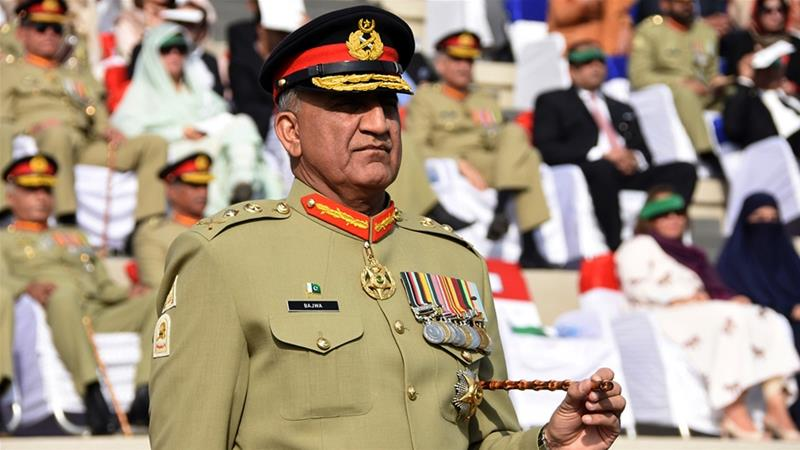 Pakistani army chief General Qamar Javed Bajwa at a Change of Command ceremony in Rawalpindi [File: Inter-Services Public Relations via AP]