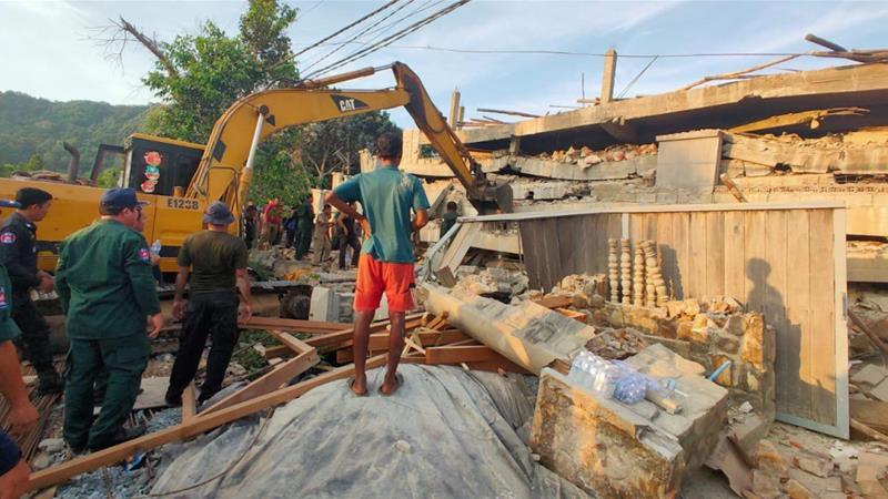 At least two killed in Cambodia building collapse