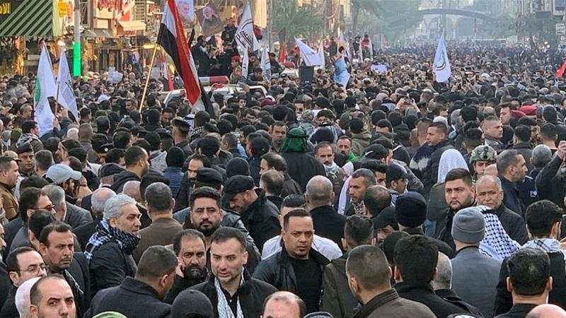Thousands of mourners join Soleimani funeral in Baghdad