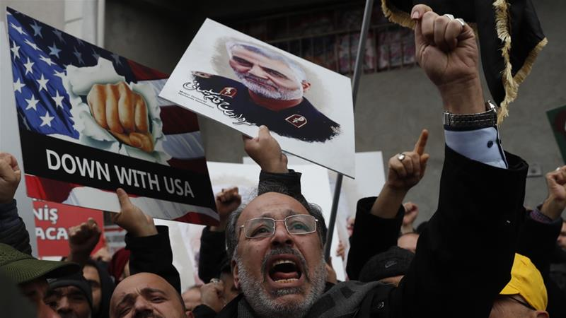 The US killing of Qassem Soleimani heightened tensions between the US and Iran [Lefteris Pitarakis/AP]