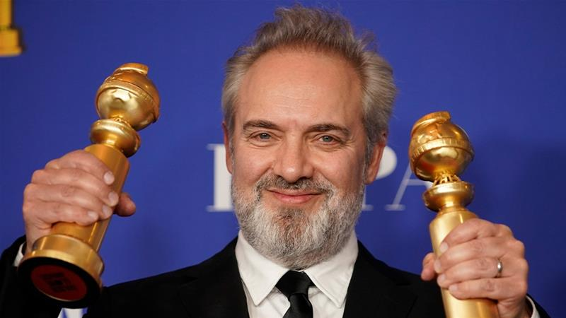 Sam Mendes won Best Director and Best Picture for his World War I film, 1917 [Mike Blake/Reuters]