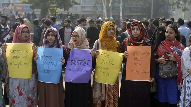 Police said about 1,500 students joined the protests, which remained peaceful [Munir Uz Zaman/AFP]