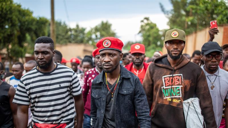 Bobi Wine announced last year he would challenge President Yoweri Museveni in the 2021 elections [File: Luke Dray/Getty Images]