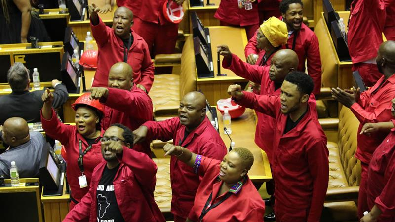 EFF MPs leave Parliament