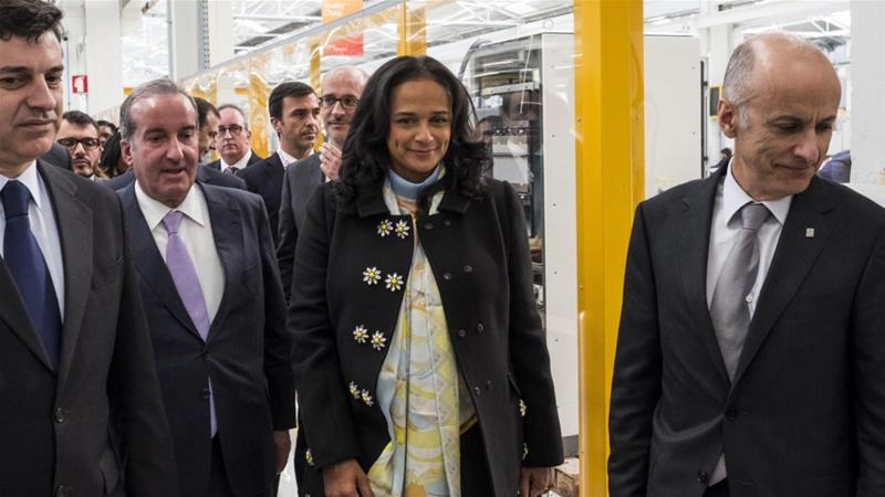 The International Consortium of Investigative Journalists says Isabel dos Santos, a billionaire and the former chairman of Sonangol Holding-Sociedade Nacional de Combustiveis de Angola EP, is being investigated by Angolan government officials for 'looting hundreds of millions of dollars from the state's oil and diamond-trading companies' [Daniel Rodgrigues/Bloomberg]