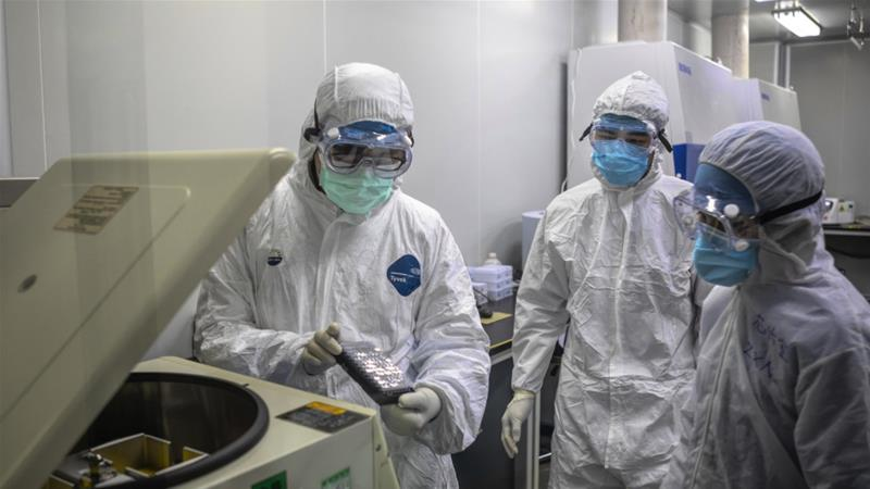 A Chinese customs official said Sunday that 3.86 billion masks, 37.5 million pieces of protective clothing, 16,000 ventilators and 2.84 million coronavirus testing kits had been exported to more than 50 countries since March 1 [File: Alex Plavevski/EPA]