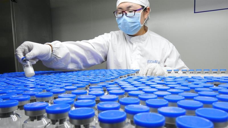 Industry watchers are concerned about possible shortages of crucial drugs worldwide if manufacturers of key ingredients in China remain affected by government measures to contain the coronavirus outbreak [File: Stringer via third party/Reuters]