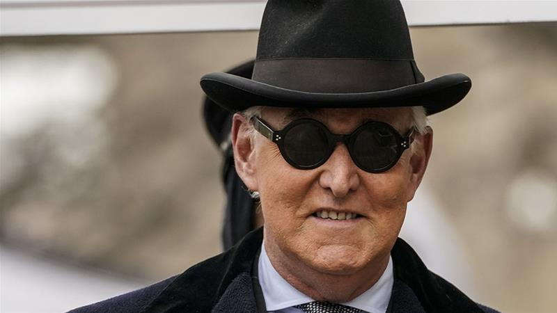 Roger Stone arrives at E Barrett Prettyman United States Court in Washington, DC [Drew Angerer/Getty Images/AFP]