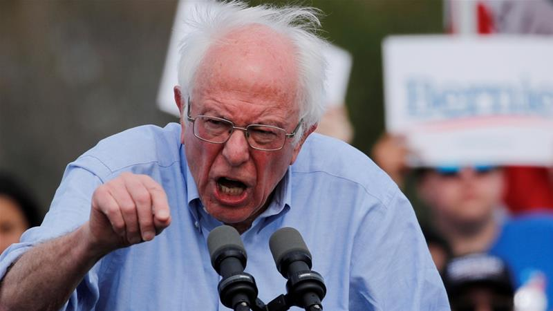 Bernie Sanders was informed by US officials that Russia was seeking to aid his election campaign [Mike Blake/Reuters]