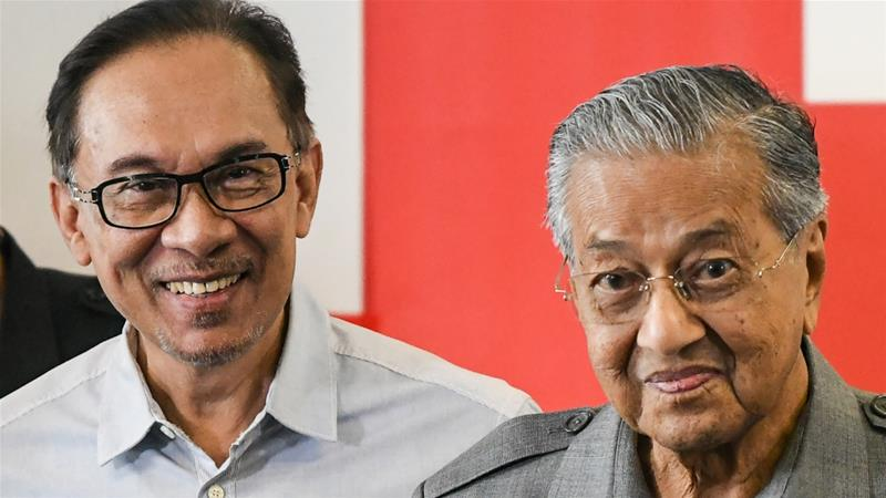Anwar was Mahathir's deputy when the latter was prime minister during his first stint from 1981 to 2003 [Mohd Rasfan/AFP]