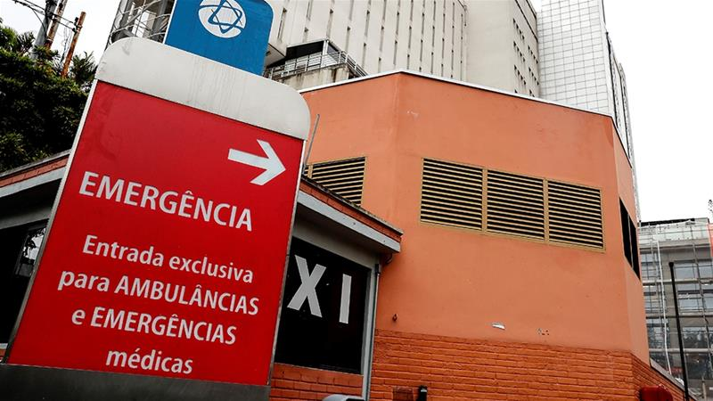 General view of the Albert Einstein Hospital, where what would be the first case of coronavirus in Brazil was detected, in Sao Paulo, Brazil [Sebastiao Moreira/EPA]