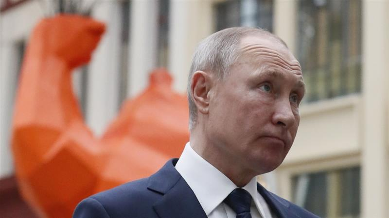 The constitution currently lets a president serve two consecutive terms, meaning Putin would have to leave office in four years [File: Shamil Zhumatov/Pool/AFP]