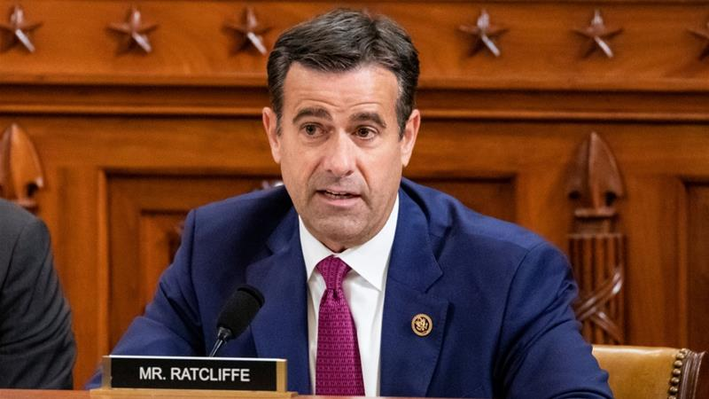 Trump picks Ratcliffe as top intelligence chief, again