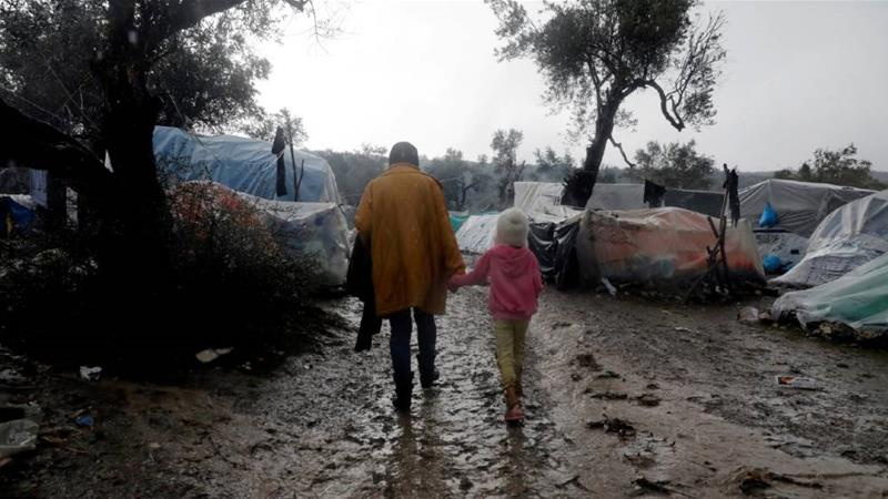 Official camps are overcrowded by thousands of people, while makeshift camps have sprung up nearby, where conditions are dire [File: Giorgos Moutafis/Reuters]