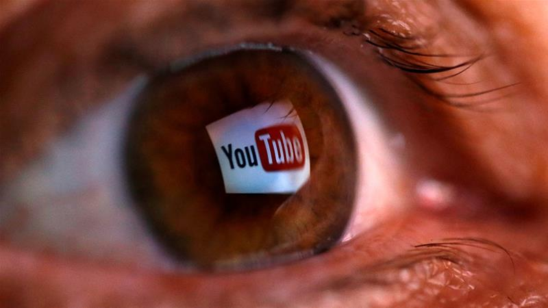 YouTube logo reflected in a person's eye [File: Dado Ruvic/Reuters] [Daylife]