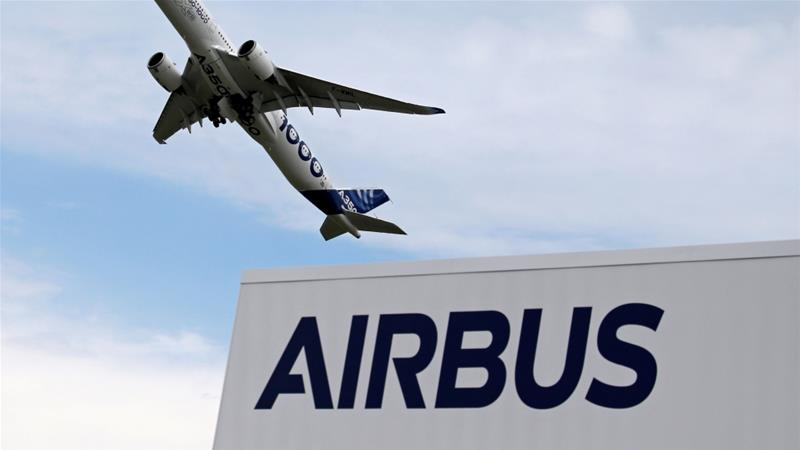 Airbus agreed to pay a record $4bn in fines after reaching a plea bargain with prosecutors in the UK, France and US over alleged bribery and corruption [File: Pascal Rossignol/Reuters]