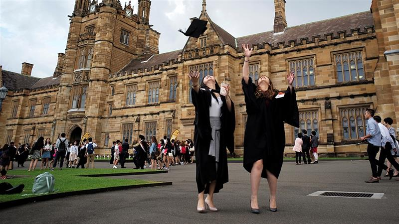 Australia has closed its borders to people from China, including non-Chinese who have been in the country, which is creating problems for the thousands of international students at the country's universities [File: Jason Reed/Reuters]