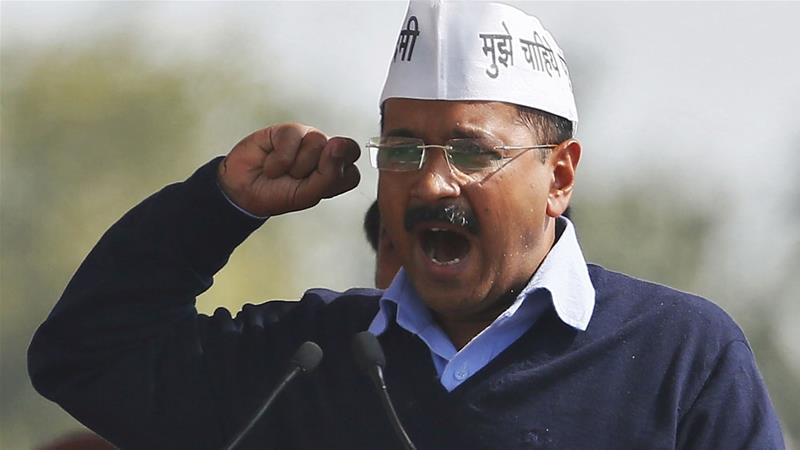 The BJP's tone has become shriller with some members implying Kejriwal is a 'terrorist' backing Muslim-majority arch enemy Pakistan [Anindito Mukherjee/Reuters]