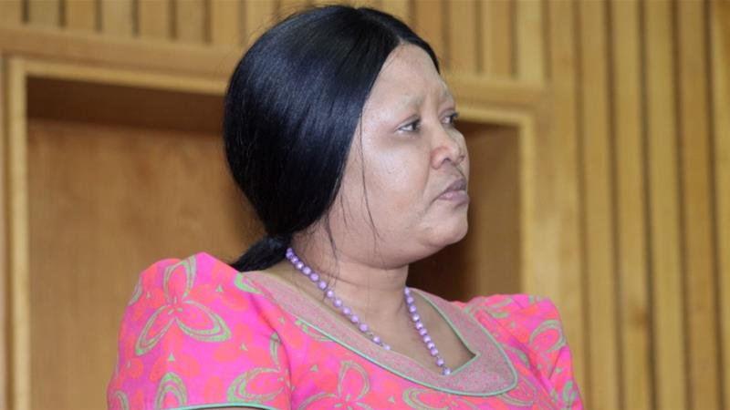 Maesaiah Thabane appeared in court in Maseru on Wednesday [Marafeale Mohloboli/Reuters]