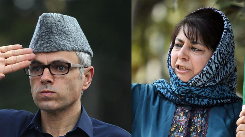Omar Abdullah and Mehbooba Mufti have been charged under PSA - a law that allows detention without trial for up to two years  [Danish Ismail and Fayaz Kabli/Reuters]