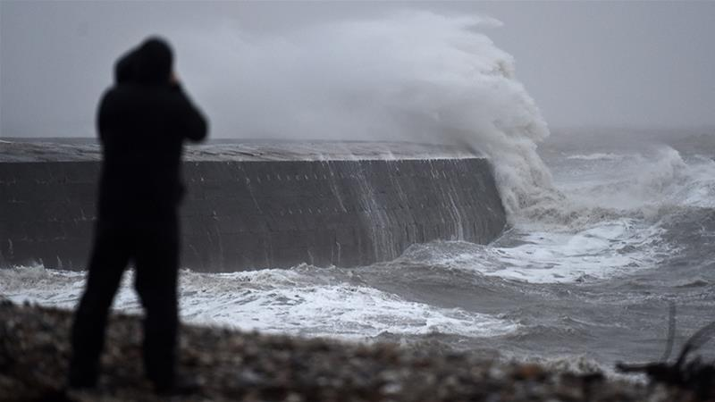 Trains, flights, ferries canceled as Storm Ciara batters UK