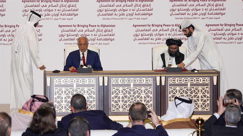 The peace agreement was signed in Qatar''s capital, Doha [Sorin Furcoi/Al Jazeera]