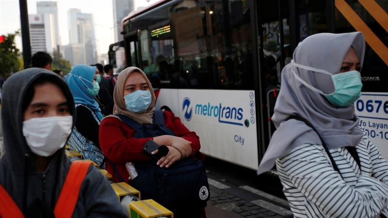 Indonesia reported its first death linked to the coronavirus infection on Wednesday, and has 26 other cases [Willy Kurniawan/Reuters]