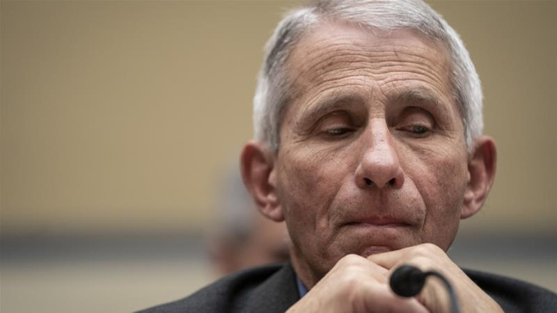 Fauci warned that the US faces significant challenges in containing the coronavirus [Drew Angerer/Getty Images/AFP]