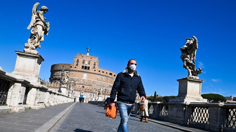 Italy has tightened a quarantine that has already emptied its usually crowded city streets [Andreas Solaro/AFP]