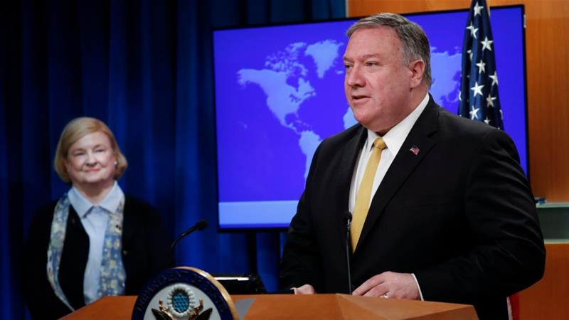 Secretary of State Mike Pompeo unveiled the creation of the Commission on Unalienable Rights in July [File: Pablo Martinez Monsivais/The Associated Press]