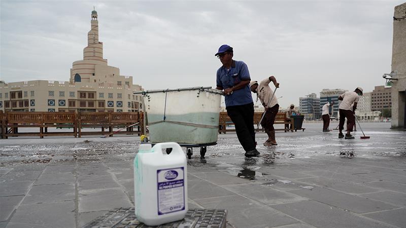 Qatar announced 64 new confirmed cases of coronavirus, taking the total to 401 [Sorin Furcoi/Al Jazeera]