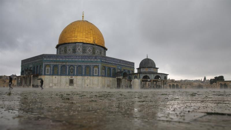 All prayers will be held in the open areas of the Aqsa Mosque' Al Aqsa Mosque director Omar Kiswani said