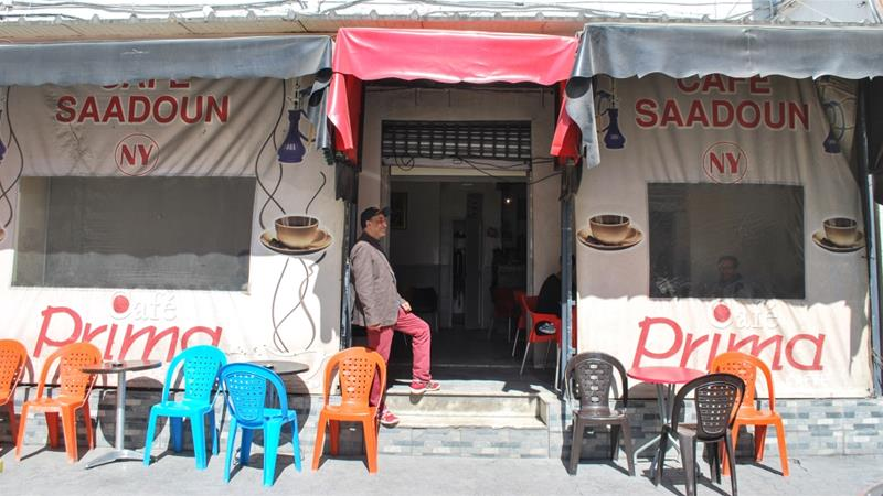 Cafe Saadoun in Tunis has stopped offering shisha to customers after a countrywide ban on smoking pipes [Layli Foroudi/Al Jazeera]
