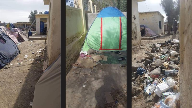 Litter, dirty toilets and lack of doctors are some of the concerns of those at the quanratine camp [Amir Ali]