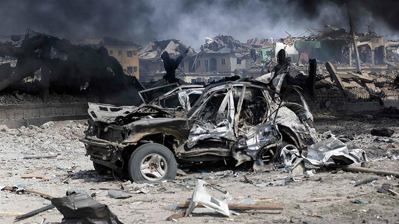 Nigeria: The explosion was triggered when a truck hit gas bottles stacked up in a gas processing plant
