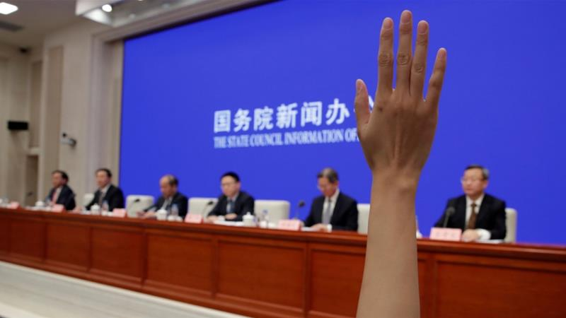 China is expelling US journalists from three major US newspapers [File: Jason Lee/Reuters]
