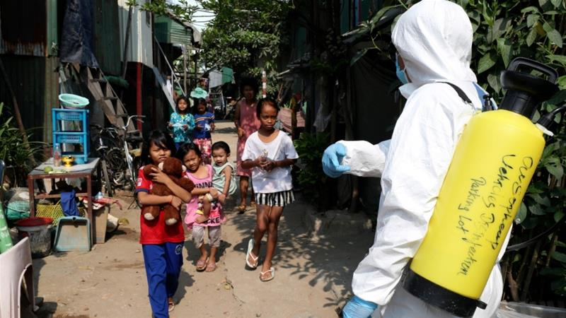 As of Tuesday, at least 87 people in Cambodia have been officially confirmed to have contracted the disease [Heng Sinith/AP]