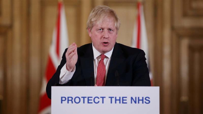 On March 27, Johnson became the first leader of a major power to announce that he had tested positive [File: Ian Vogler/Pool/Reuters]