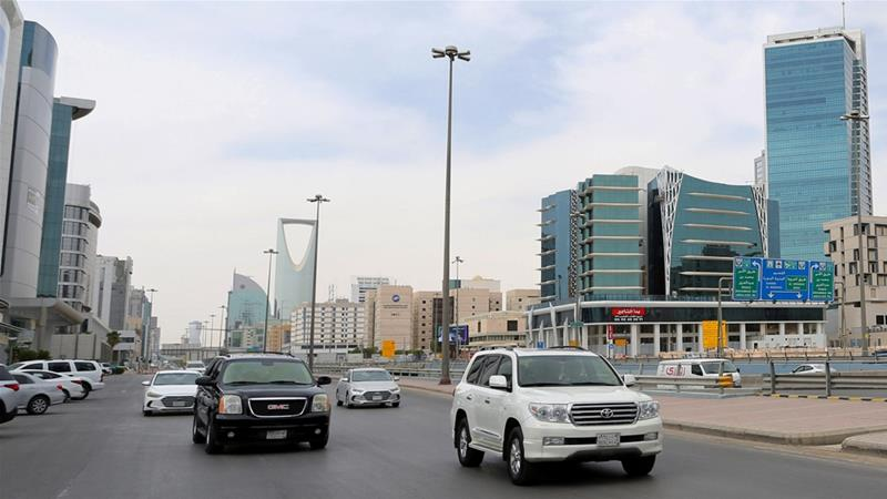 Cars were back on the streets in Riyadh a after curfew was lifted, which was imposed to prevent the spread of the coronavirus on March 24 [File: Ahmed Yosri/Reuters]