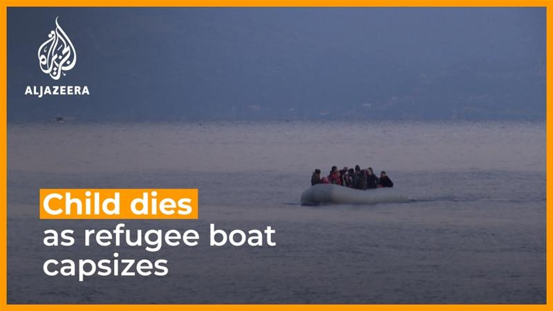 Child dies as refugee boat capsizes off Lesbos
