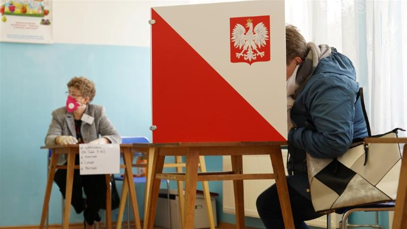 Local by-elections were held last month in Bemowo Piskie, but calls to postpone the national presidential election have been growing  [Arkadiusz Stankiewicz/Agencja Gazeta/Reuters]