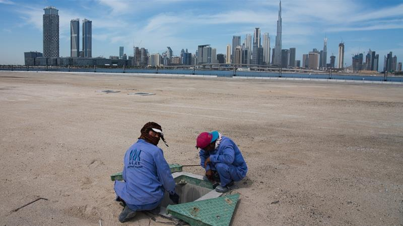 There are more than three million migrant workers from India in the United Arab Emirates [Jon Gambrell/AP Photo]