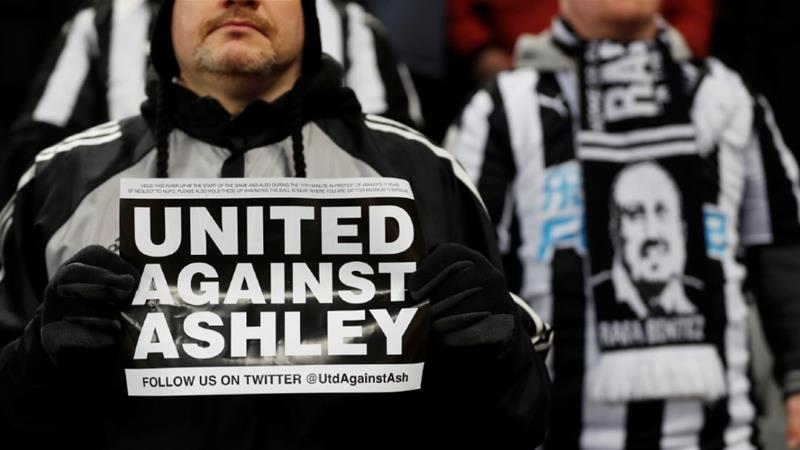 Fan protests against Mike Ashley's ownership have been frequent over the past 12 years [File photo: January 29, 2019/Lee Smith/Action Images/Reuters]
